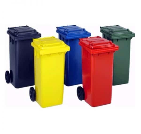 120 lt plastik çöp konteyneri